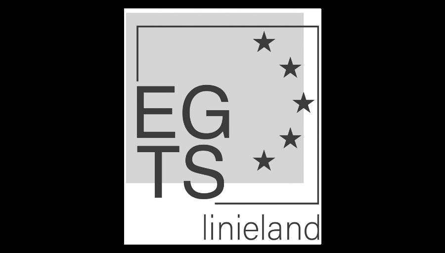 Logo egts linieland zwart wit