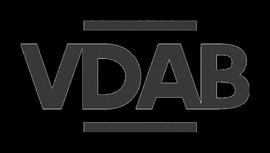 logo vdab zwart wit