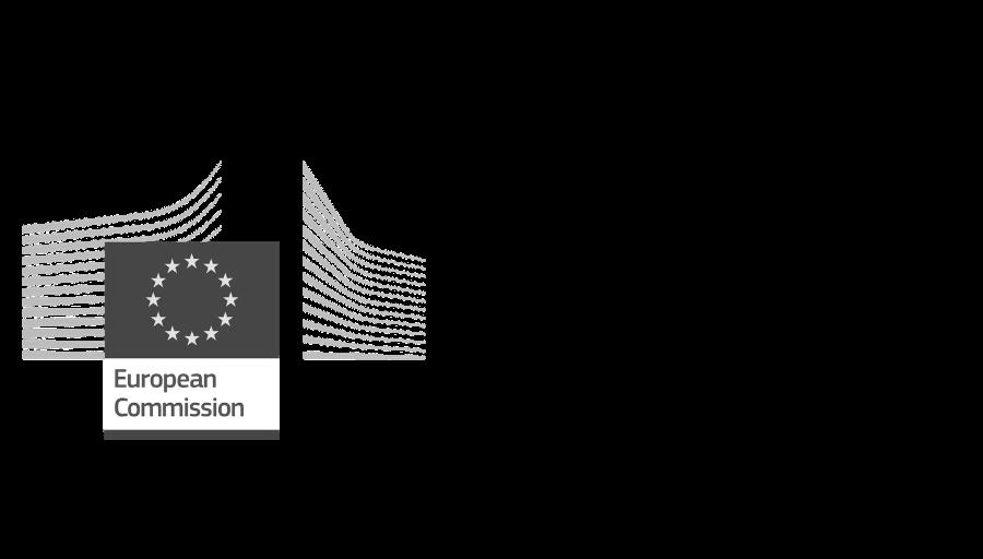 Logo european commission project eures scheldemond zwart wit